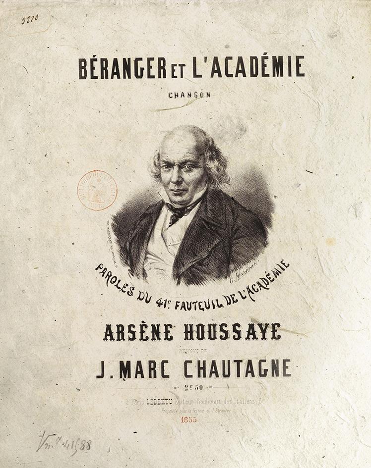 Partition originale de Béranger et l'Académie-1-Le Chant des crimes-Marc Renneville-Gaelis Éditions1