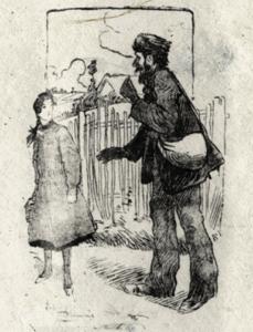 Vacher approche une jeune fille-Le Chant des crimes-Marc Renneville-Gaelis Éditions
