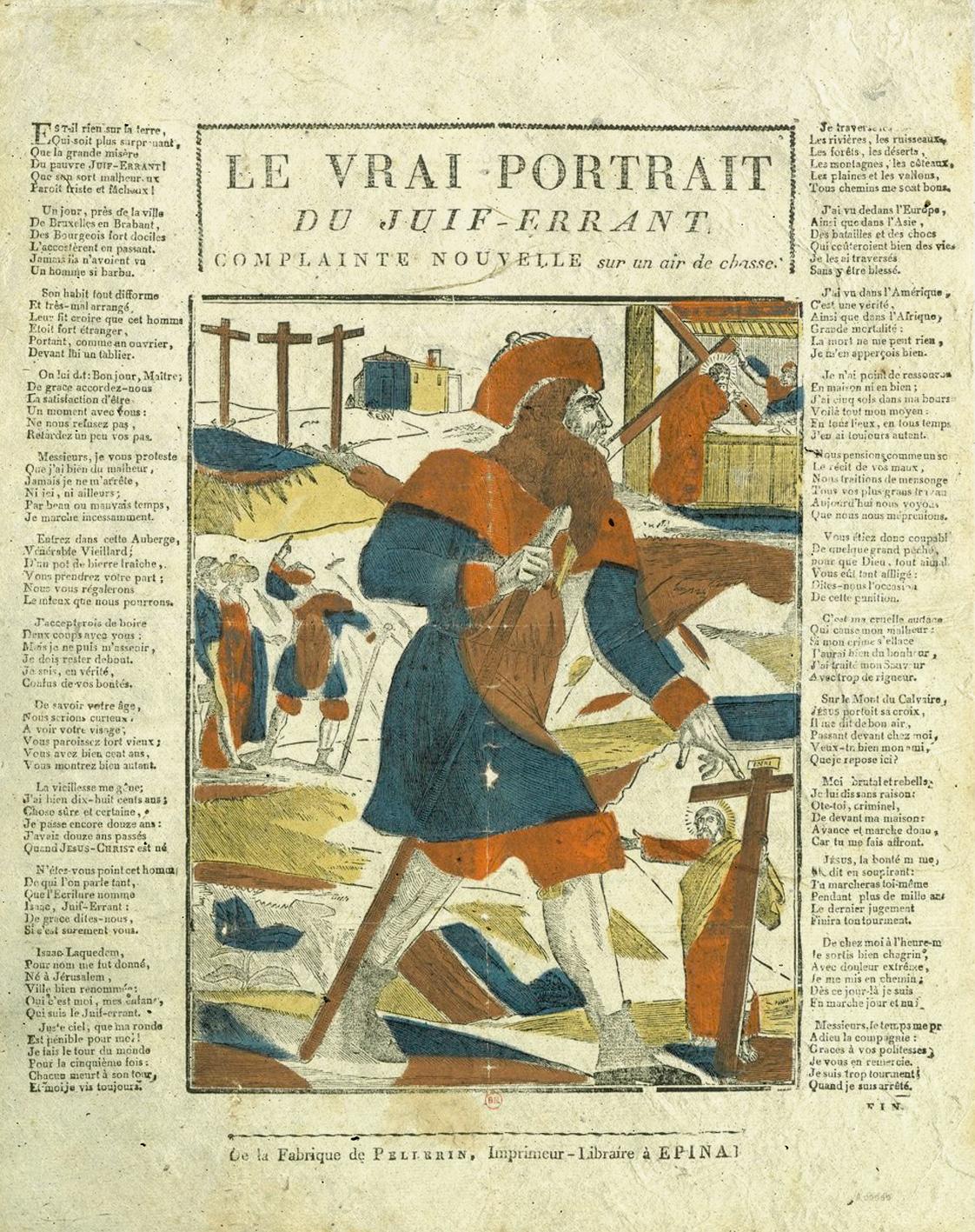 Le véritable portrait du juif errant-Le Chant des crimes-Marc Renneville-Gaelis Éditions